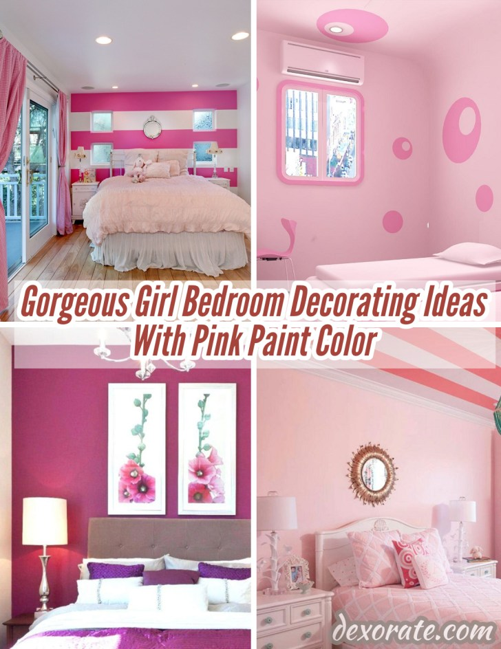 22 Gorgeous Girl Bedroom Decorating Ideas With Pink Paint Color Dexorate