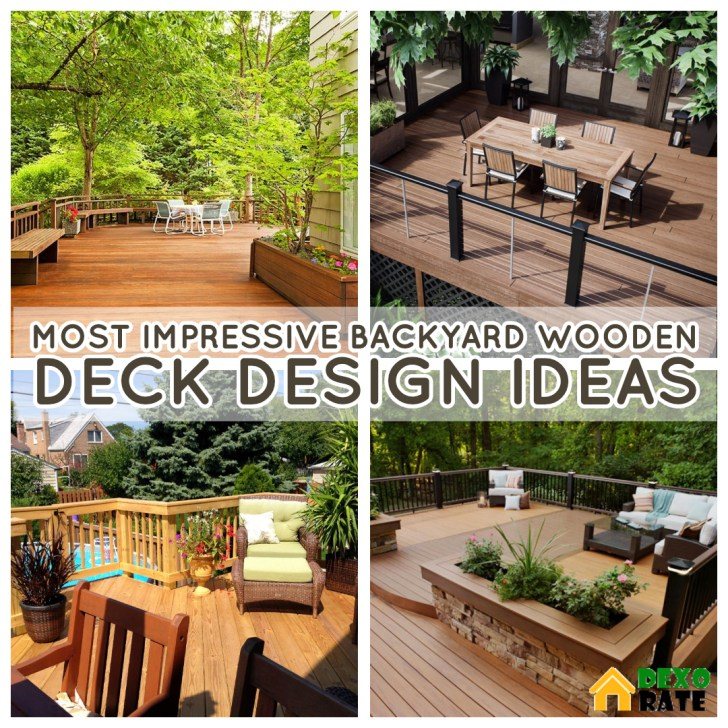 30 Impressive Wooden Deck Design Ideas For Your Backyard Dexorate