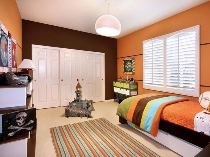 Orange And Brown Bedroom Color Ideas