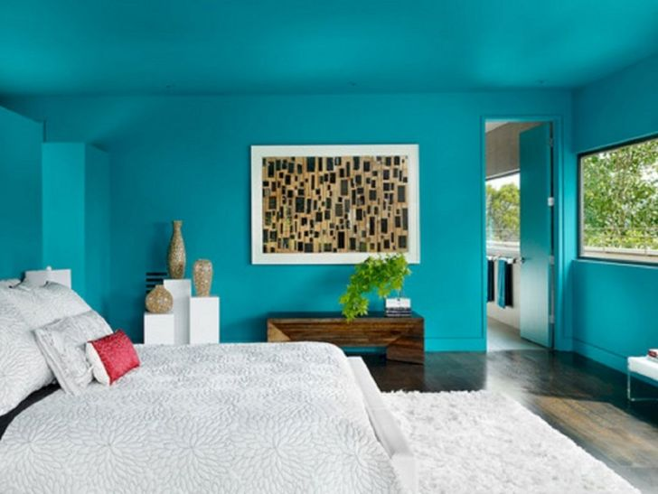 Teal Bedroom Paint Wall