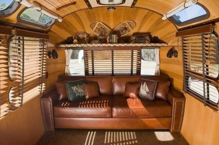 Awesome vintage airstream trailers interior