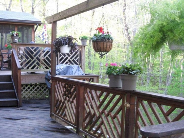 18 Rustic Wood Deck Patio Ideas For Comfortable Home Outdoor ...
