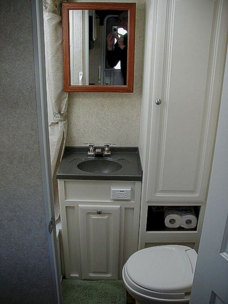 Small RV Bathroom Toilet