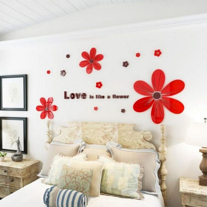 Bedroom With Wall Sticker Ideas