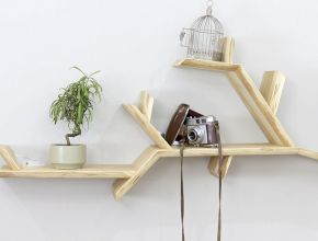 Tree Branches Hanging Shelves