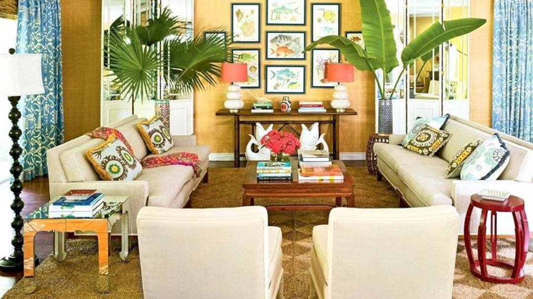 15 Fascinating Tropical Living Room Interior Style Ideas ...