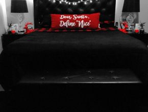 Black and red bedroom decor