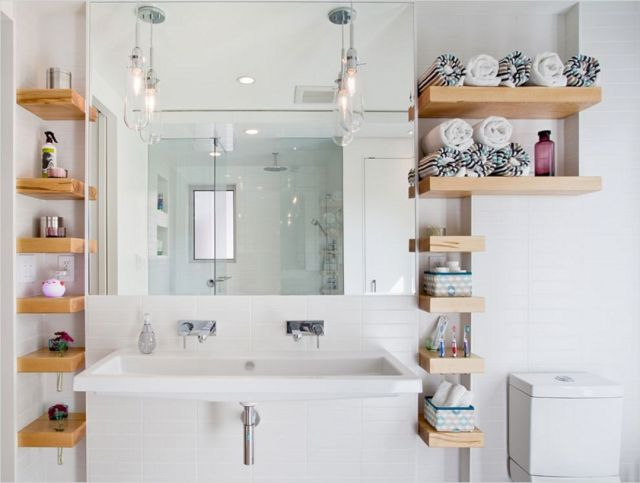 Corner bathroom Shelves Ideas