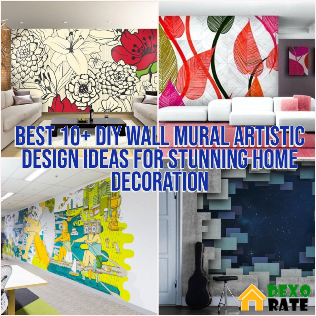 Best Wall Mural Artistic Design Ideas For Stunning Home Decoration
