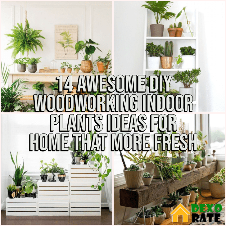 DIY Woodworking Indoor Plants Ideas For Home That More Fresh