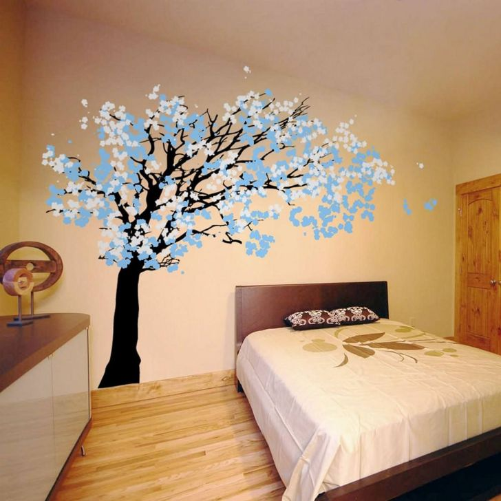 Awesome Bedroom Tree Wall Decal