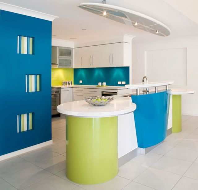 Awesome Colorful Kitchen island