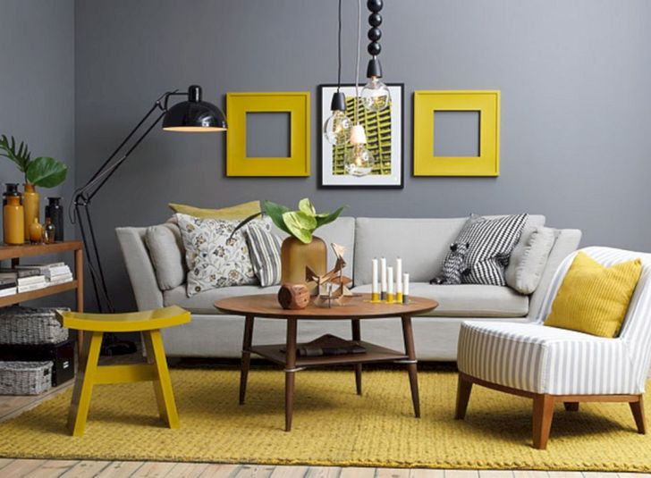 Yellow Gold Living Room Color Ideas