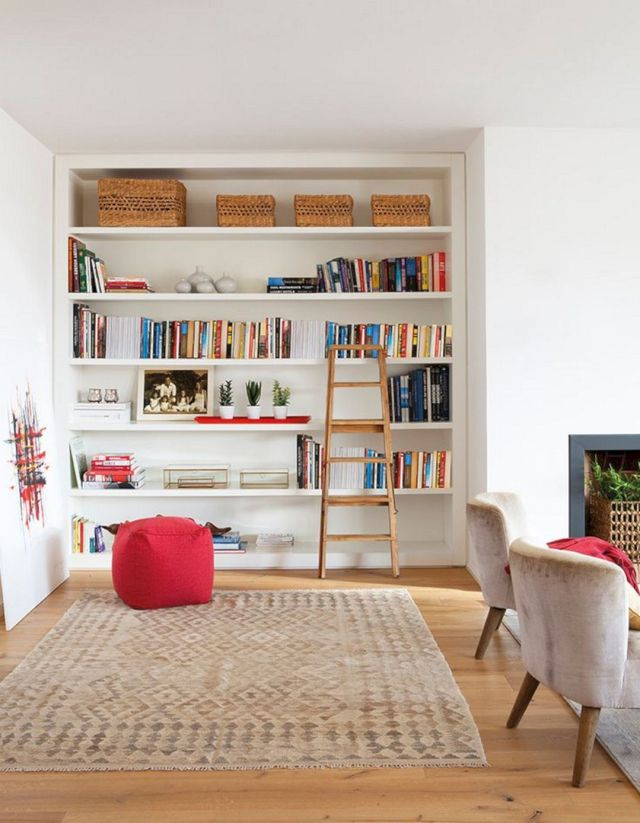 Awesome DIY Living Room Bookshelf Ideas
