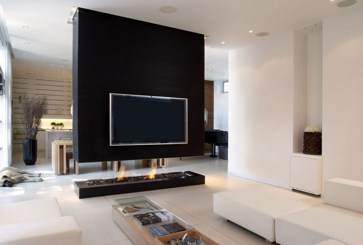 Awesome Living Room Wall TV Design Ideas