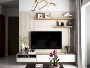 Beautiful Living Room With Wall TV Ideas