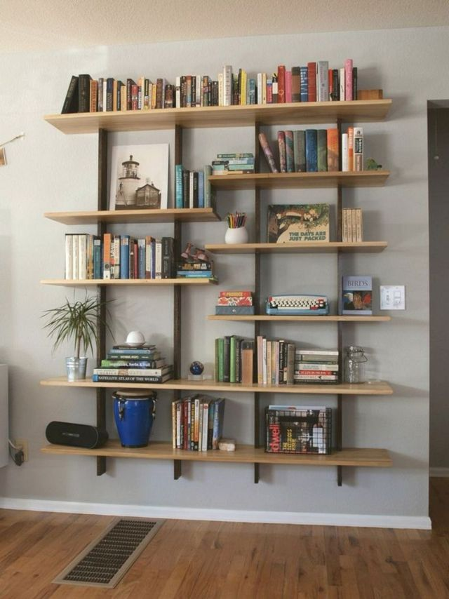 DIY Wall Bookshelf Design