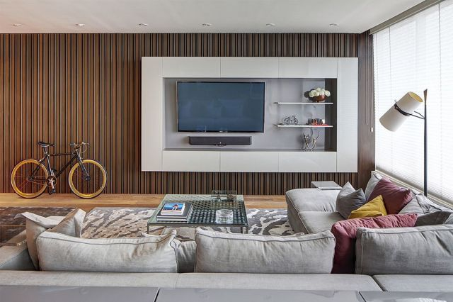 Wonderful Living Room Wall TV