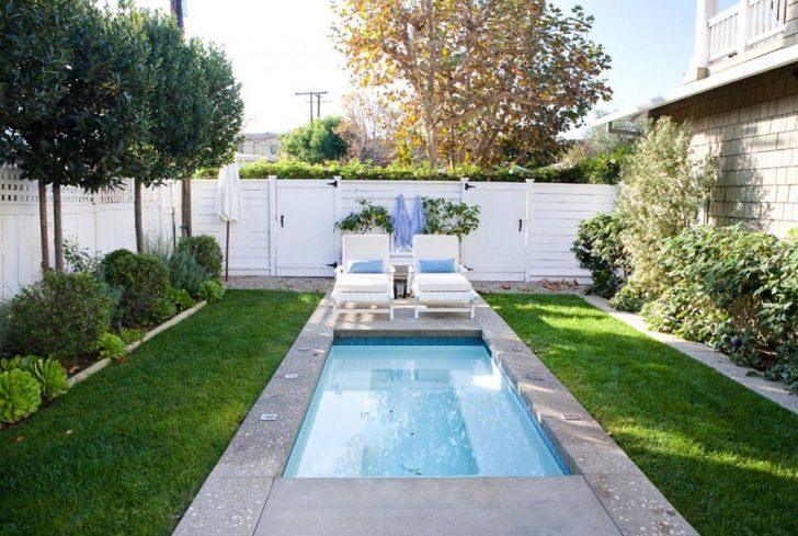 12+ Most Awesome Small Backyard Pool Design Ideas You Must ... Narrow Pool Designs And Landscaping on narrow patio designs, small side yard landscaping, small backyard landscaping, a very small yard landscaping, red plants for landscaping,