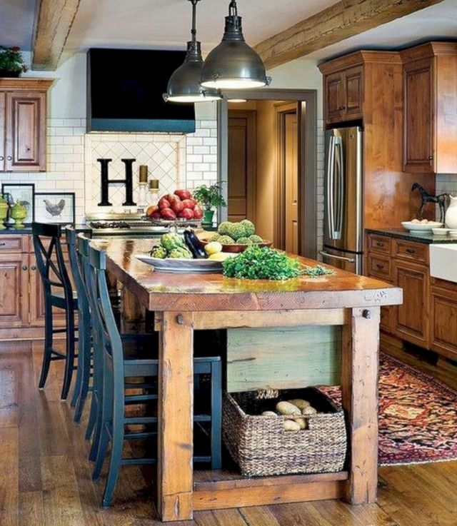 Wood Kitchen Island Ideas