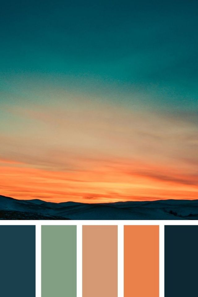 Color Inspiration Sunset color