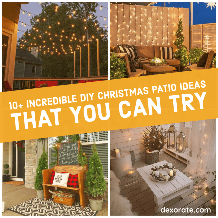 DIY Christmas Patio Ideas That You Can Try