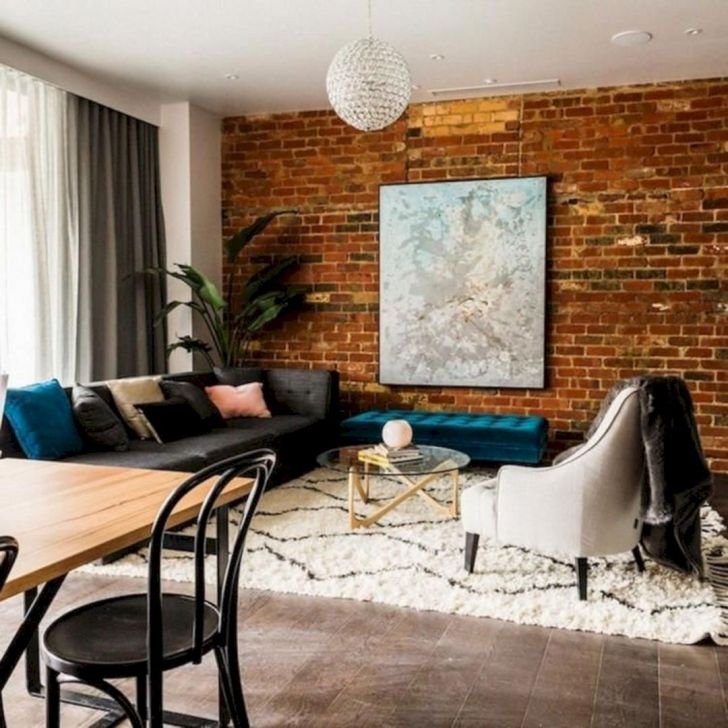 Awesome Living Room Brick Wall Ideas