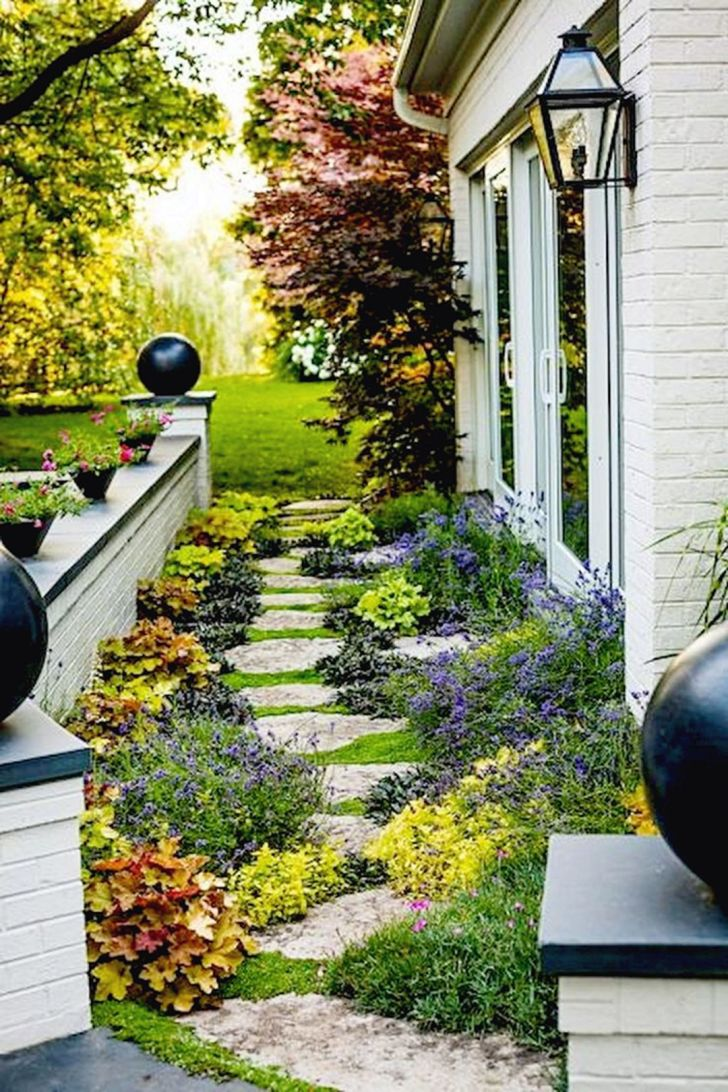 Stunning Side Yard Garden Pathways Landsc