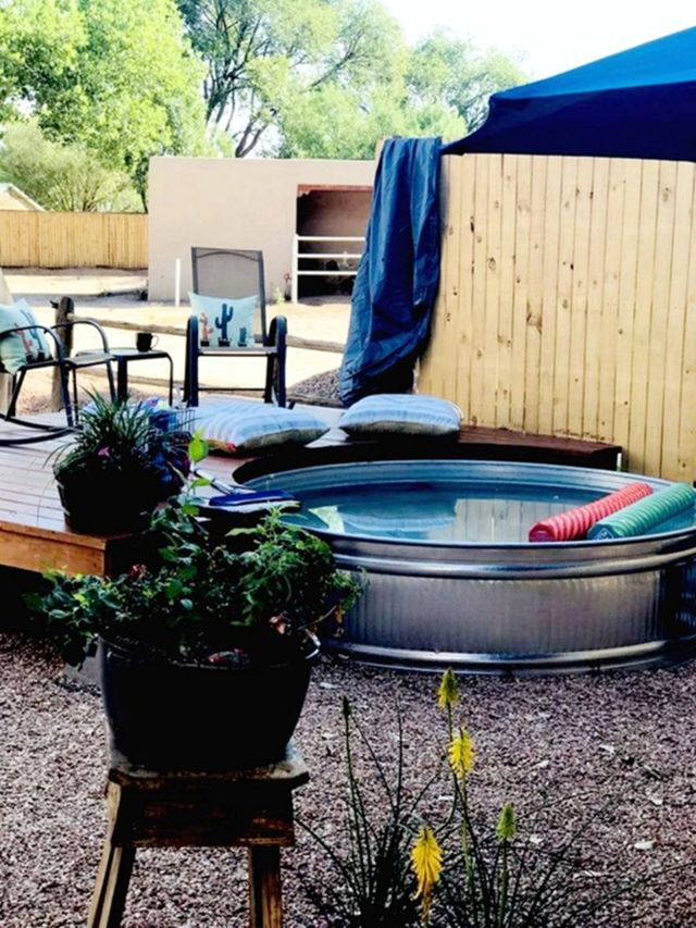 Comfortable Summer With Stock Tank Pool