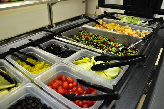 Salad bar at Wylie Elementary
