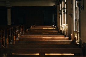 Dexter Gospel Church wooden pews img