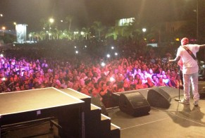 Onstage with Wyclef