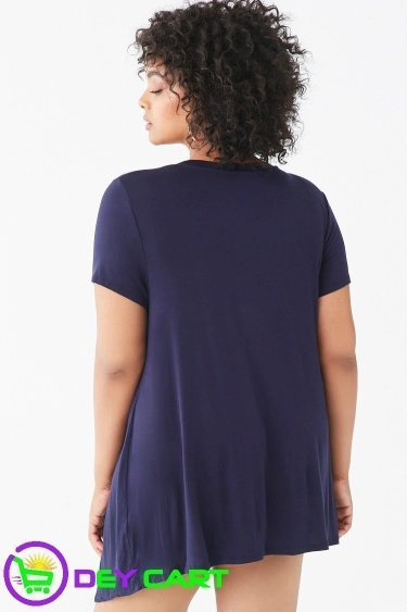 Forever21 Button Tunic - Navy 1