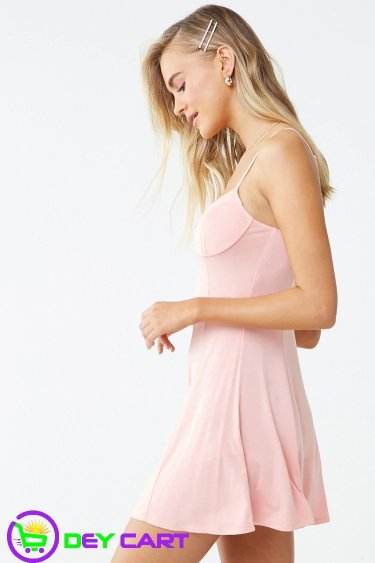 Forever21 Cami Mini Dress - Pink