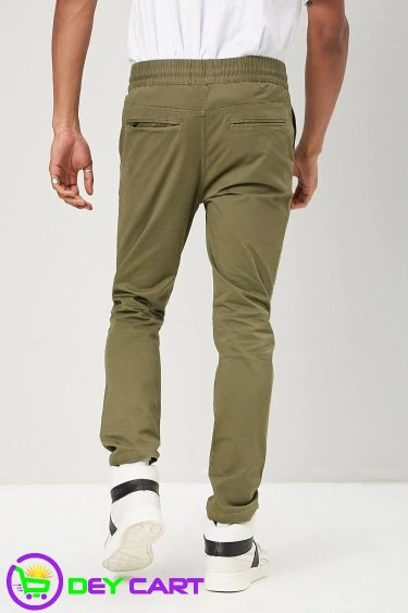 Forever21 Moto Twill Pants - Olive 1