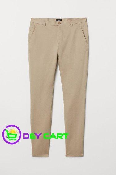 H&M Slim Fit Cotton Chinos - Beige 0