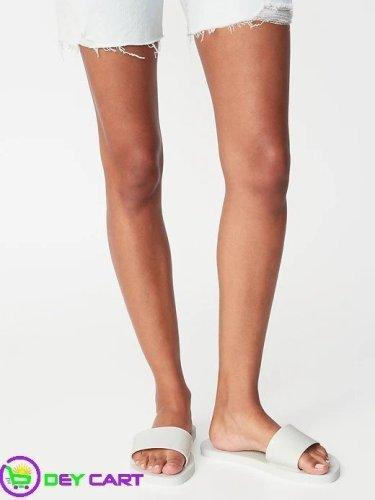 Old Navy Jelly Slide Flip-Flops - Women - White