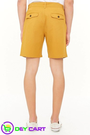 Forever21 Woven Twill Shorts - Mustard 1