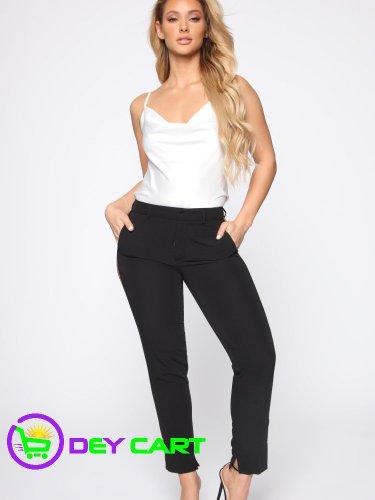Fashion Nova Athletic Solid Trouser Pants - Black 0