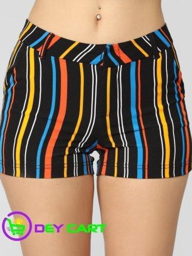 Fashion Nova Knit Crepe Printed Shorts - Black/Combo 0