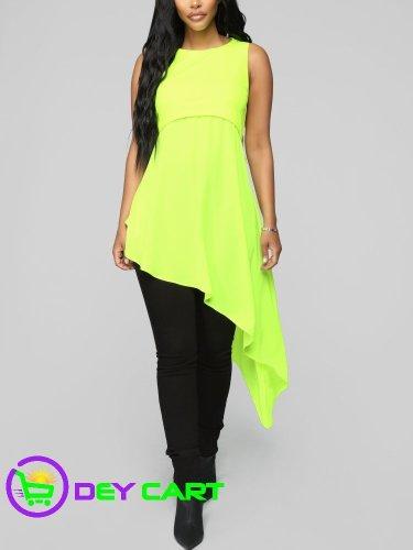 Fashion Nova Mesh Detail Tunic - Neon Green