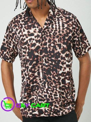 Forever21 Leopard Print Shirt - Black/Multi 0