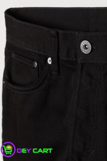 H&M Straight Denim Shorts - Black