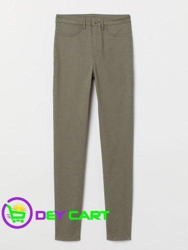 H&M Super Skinny High Jeans - Khaki Green