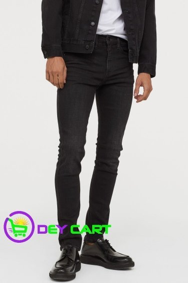 H&M Tech Stretch Skinny Jeans - Black 0