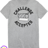 Humor Challenge Accepted Graphic Tee - Athletic Heather