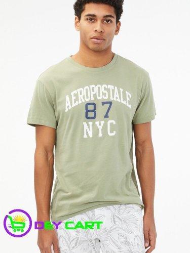 Aeropostale 87 NYC Logo Graphic Tee - Olive 0