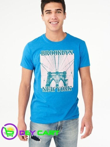 Aeropostale Brooklyn New York Graphic Tee - Electro Blue 0