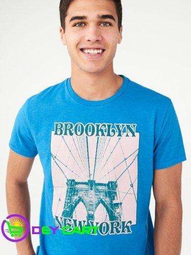 Aeropostale Brooklyn New York Graphic Tee - Electro Blue