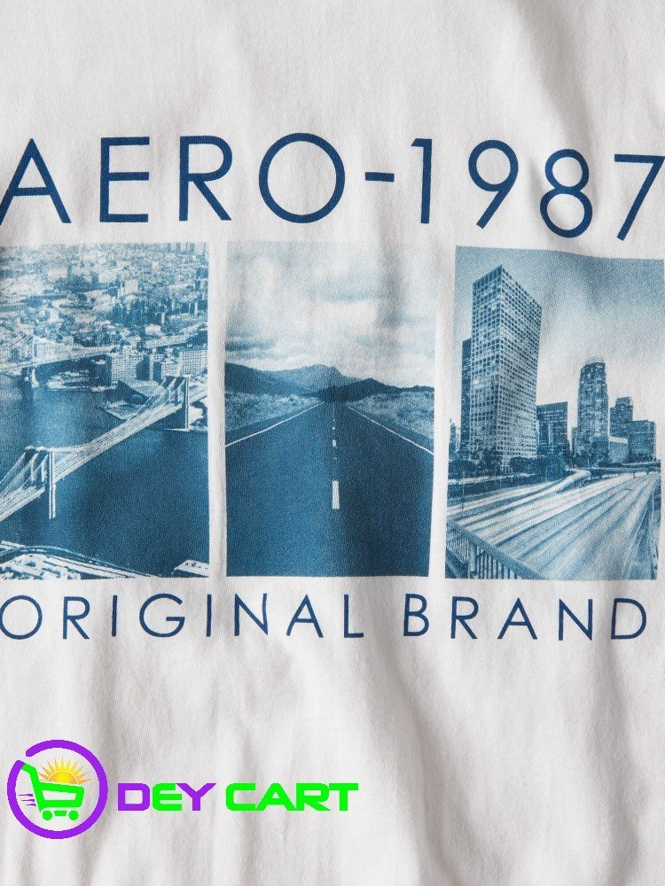 Aeropostale Original Brand Graphic Tee - Bleach 0